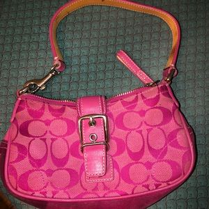 Pink Coach Hand Bag